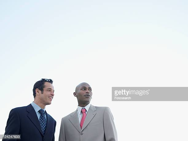 Two businessmen (low angle view)