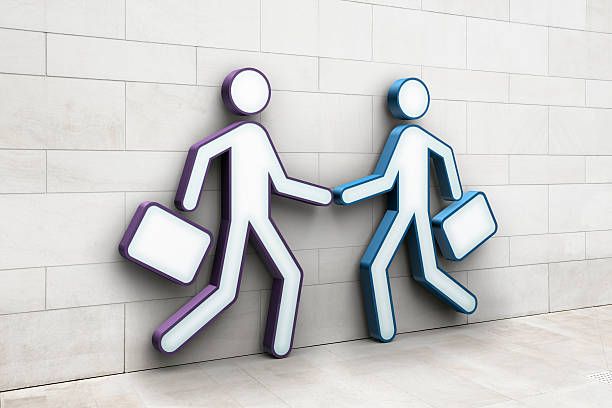 Two Businessmen Shaking Hands Wall Art