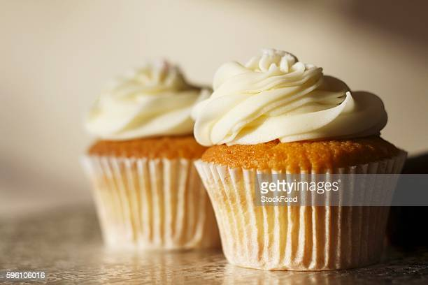 Two buttercream cupcakes