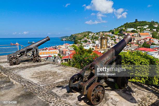 Two cannons pointed to St. George's, Grenada W.I.