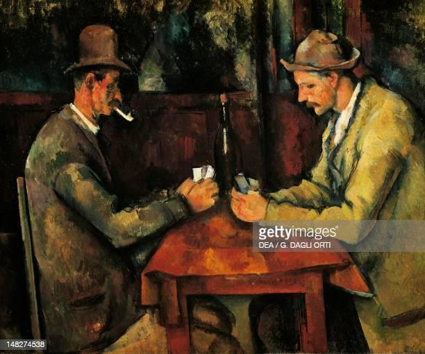 Two card players 18921895 by Paul Cezanne oil on canvas 47x57 cm Paris Musée D'Orsay
