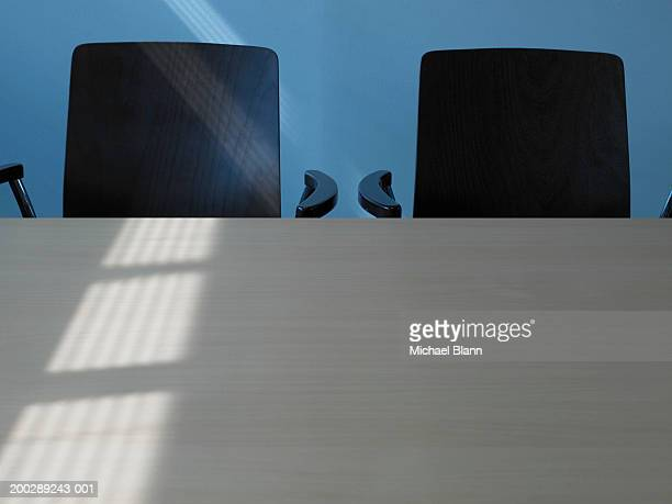 Two chairs at table