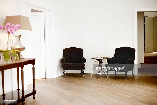 two chairs in a office