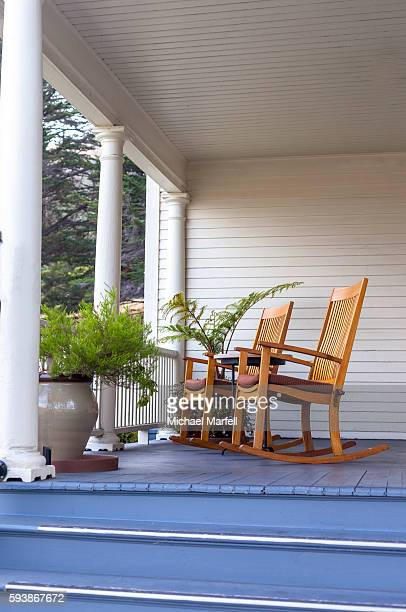 Two Chairs on porch.