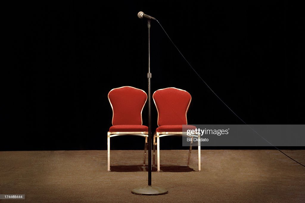 Two Chairs On Stage : Stock Photo