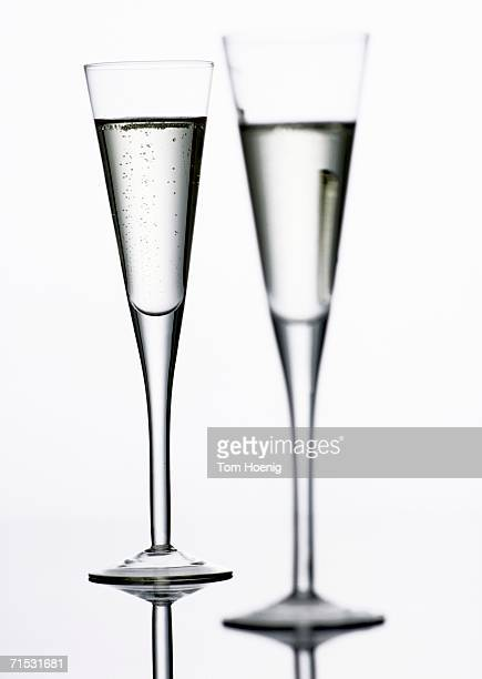 Two champagne glasses, close-up