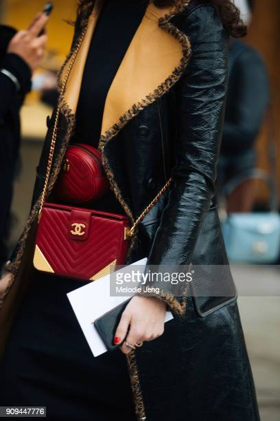 Two Chanel bags outside the Ulyana Sergeenko show at Place Vendome on January 23 2018 in Paris France
