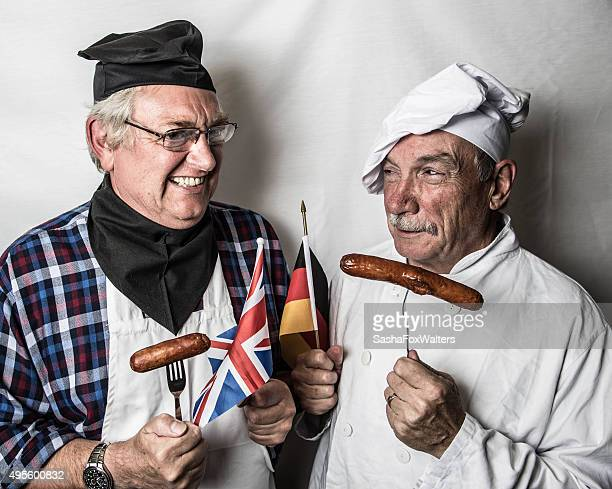 Two chefs in confrontation
