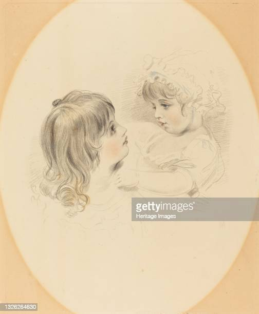 Two Children, early 19th century. Artist Unknown.