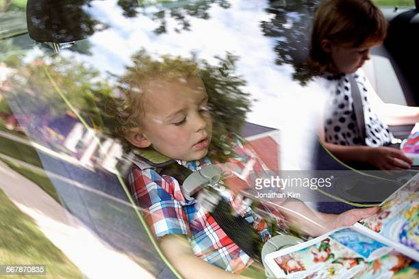 Two children in car seat