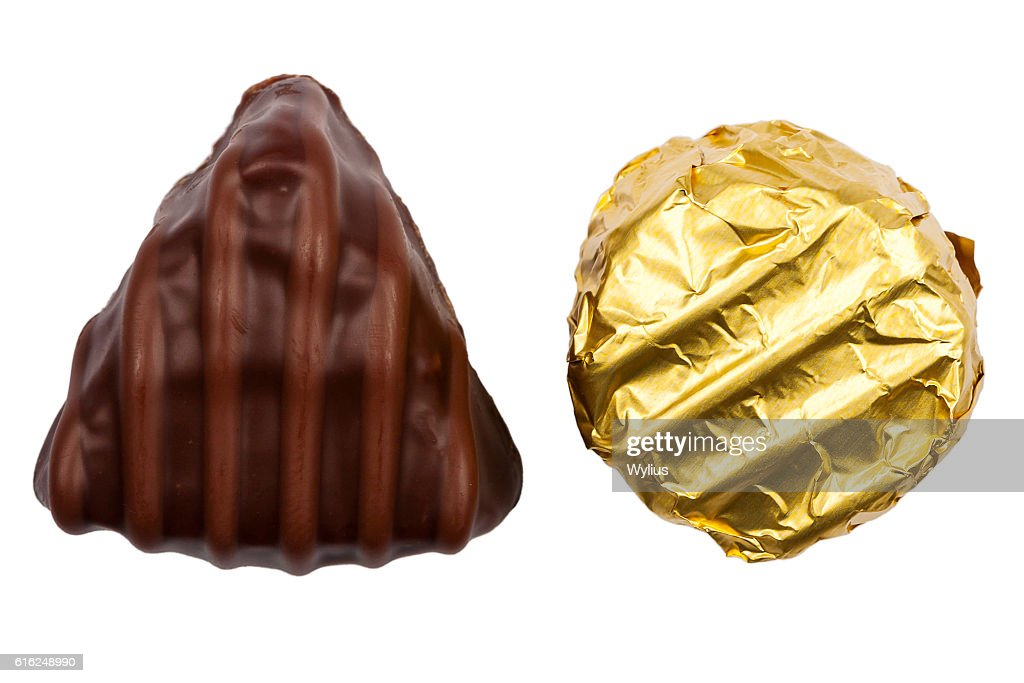 Two chocolate candies : Stock Photo