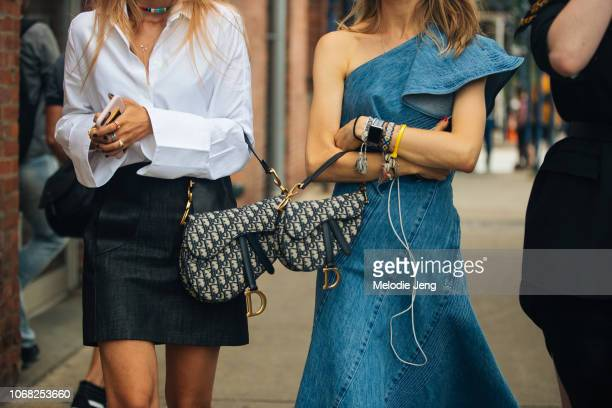 Two Christian Dior saddle bags at the ADEAM show during New York Fashion Week Spring/Summer 2019 on September 8, 2018 in New York City.