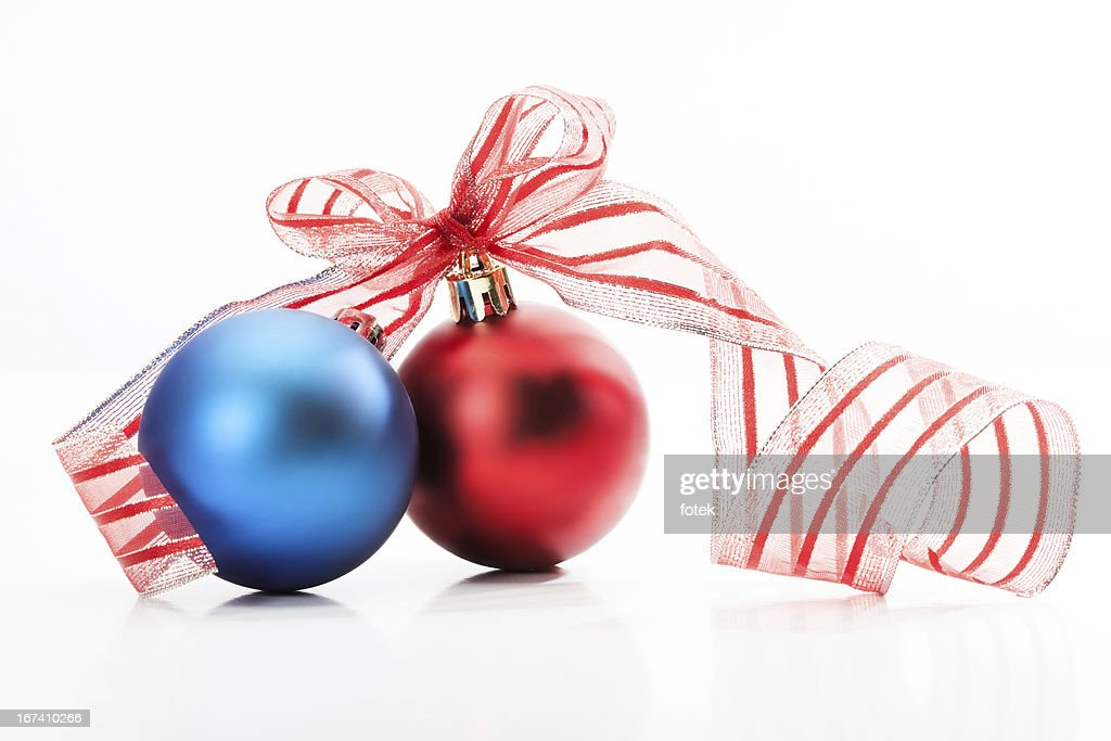 Two christmas bauble : Bildbanksbilder