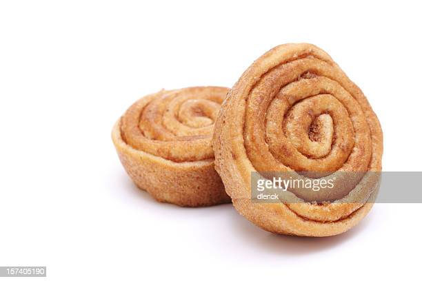 two cinnamon rolls
