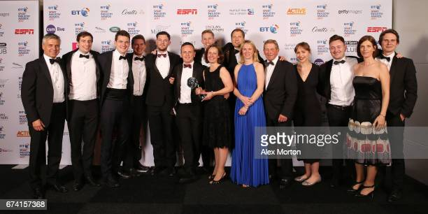 Two Circles pose with the Agency of the Year award during the BT Sport Industry Awards 2017 at Battersea Evolution on April 27 2017 in London England...