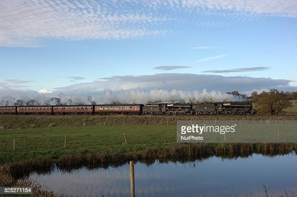 Two ClassFive Steam engines hauling a special railtour from Bristol Temple Meads to Crewe
