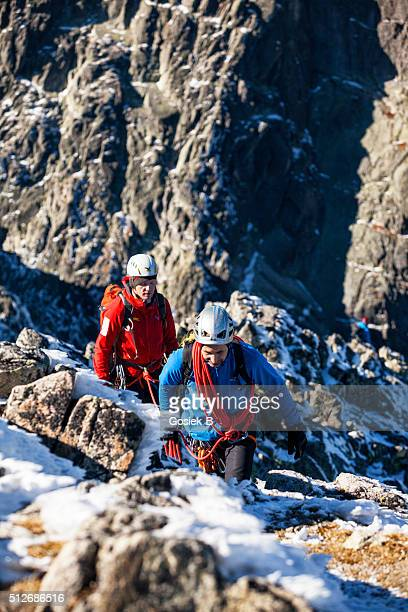 Two climbers in Tatra mountains, Slovakia