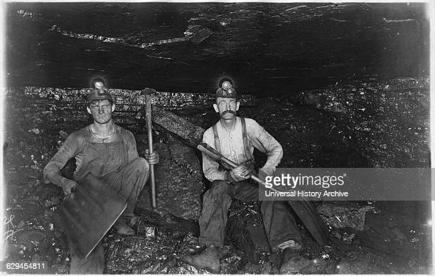 Two Coal Miners Pennsylvania USA circa 1890
