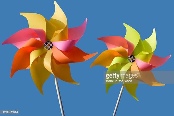 Deux des moulins à vent et Moulin à vent coloré