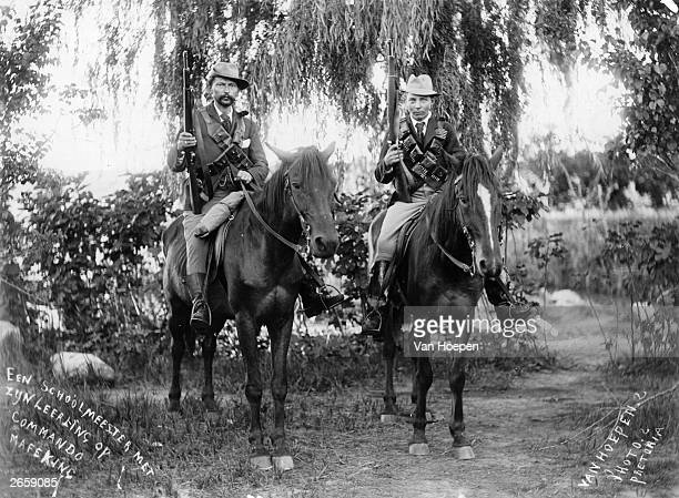 Two commando scouts a schoolmaster and pupil at Mafeking during the second Boer War