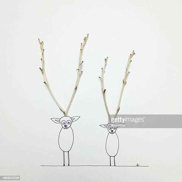 Two Conceptual reindeer
