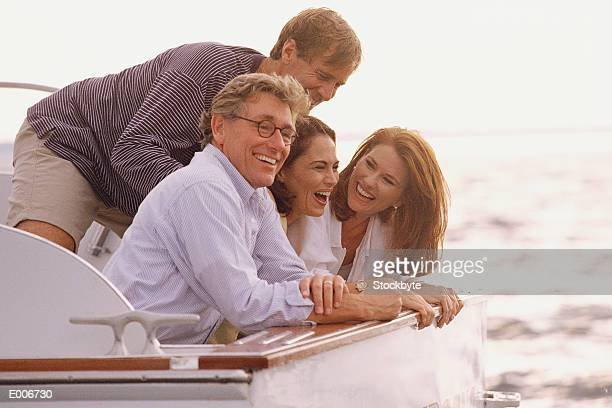 Two couples on boat