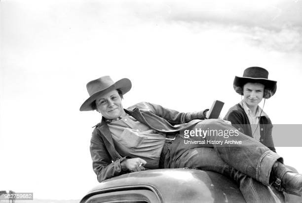 Two Cowgirls, Quarter Circle U Ranch, Montana, USA, Arthur Rothstein for Farm Security Administration, June 1939.