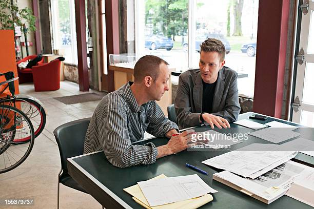 Two coworkers in discussion