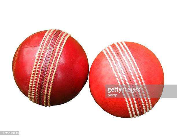 two cricket balls - cricket ball stock pictures, royalty-free photos & images