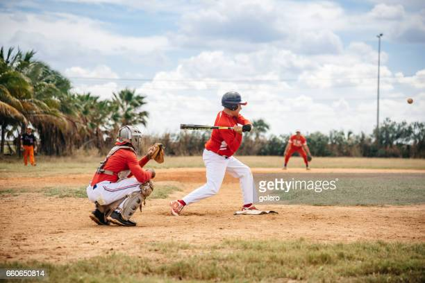 two cuban baseball players on trainings ground in Varadero