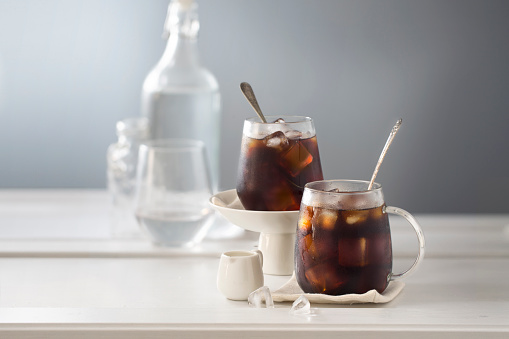 Two cup of iced black coffee. - gettyimageskorea
