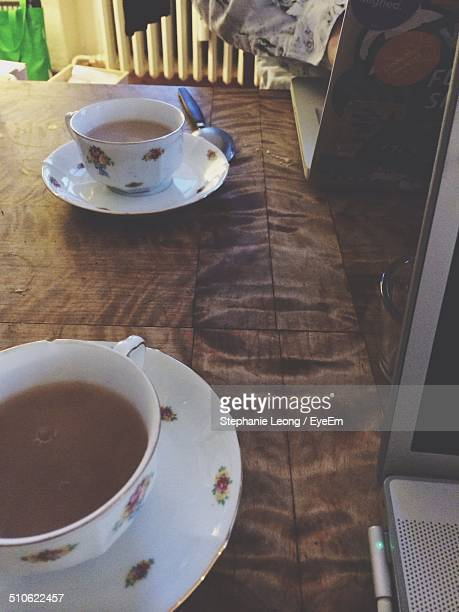 Two cup of tea in cafe