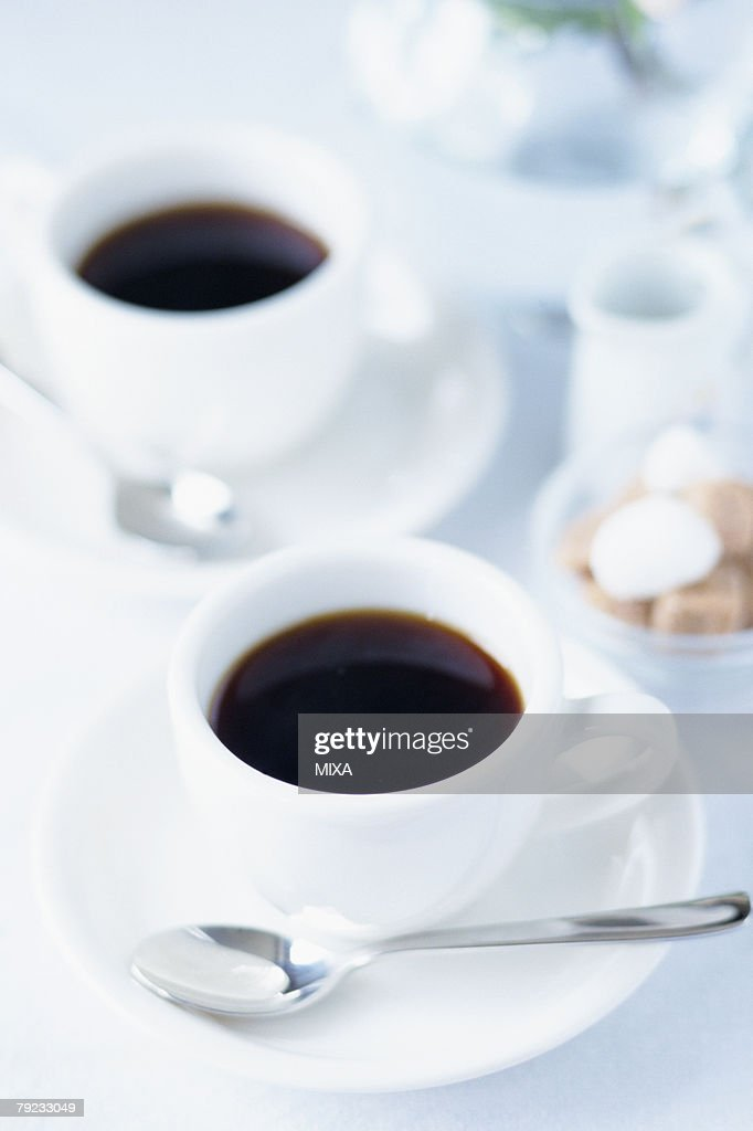 Two cups of coffee : Stock Photo