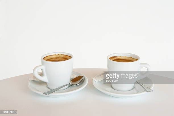 Two cups of espresso.