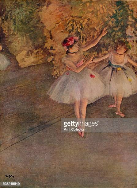 Two Dancers on Stage'1874 Painting held at the Samuel Courtauld Trust The Courtauld Gallery London From The Life and Work of Edgar Degas by J B...