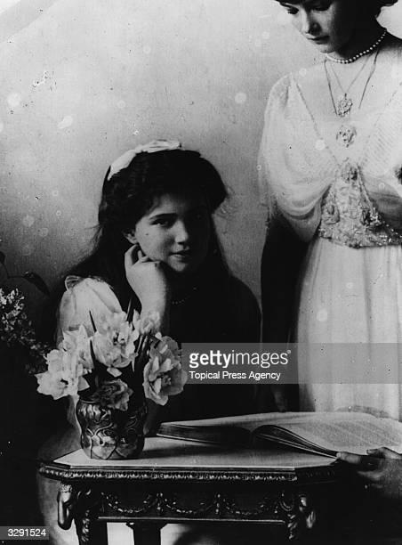 Two daughters of Tsar Nicholas II of Russia Tatiana and Marie