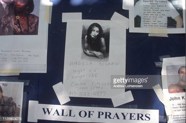 Two days after after the terrorist attack on the World Trade Center, walls and windows remain plastered with missing posters in a desperate search...