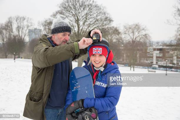 Two days after returning from the Winter Olympics in Pyeongchang South Korea Team GB freestyle snowboarder Aimee Fuller joins the BBC at Primrose...