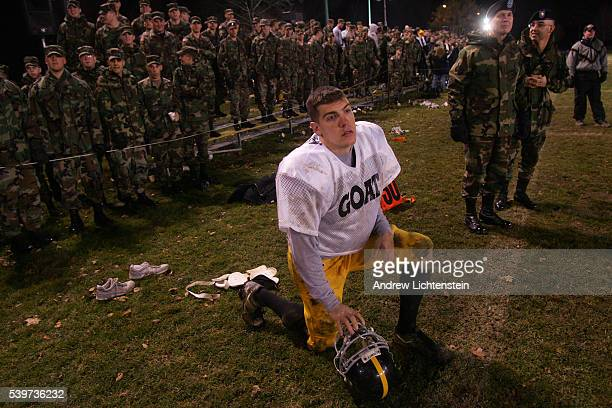 Two days before the army football team is scheduled to play navy West Point cadets play a traditional scrimmage game in which the 'goats' or those...