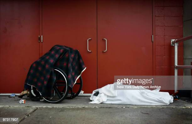 Two dead bodies one that of an elderly woman in a wheelchair another which is wrapped in a sheet have been abandoned outside the Ernest N Morial...