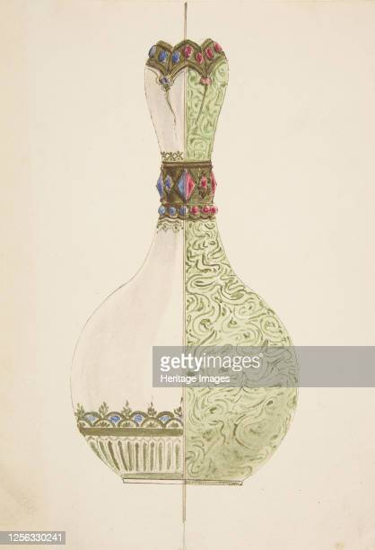 Two Designs for a Vase 19th century Artist Anon