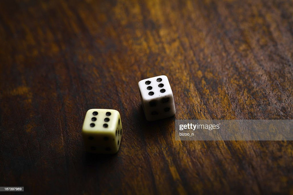 Two dice : Stockfoto