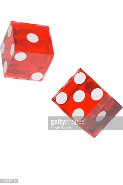 two dice - dobbelsteen stockfoto's en -beelden