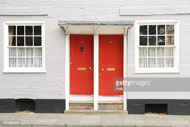 two doors - side by side stock photos and pictures