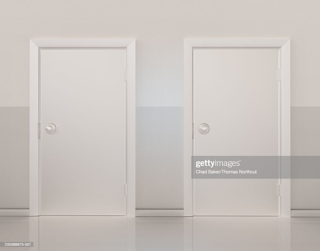 Two doors side by side (Digital) : Stock Photo