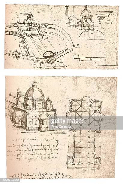 Two drawings of churches c1472c1519 From The Literary Works of Leonardo Da Vinci Vol II by Jean Paul Richter PH DR [Sampson Low Marston Searle...