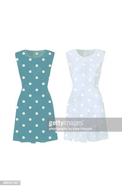 two dresses - vestido sin mangas fotografías e imágenes de stock