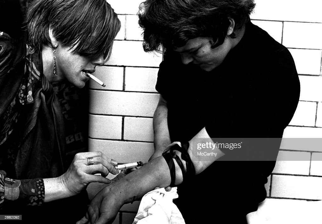 hulton archive gets high photos and images getty images two drug addicts jacking up in the toilets at piccadilly underground