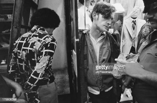 Two drug dealers are arrested on 42nd Street New York City 1979