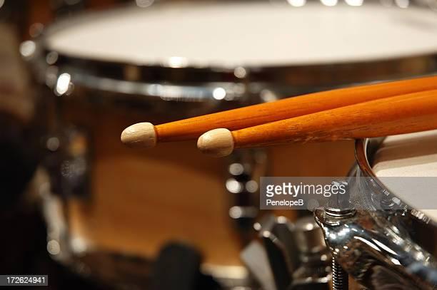 Two drum sticks